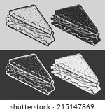 hand drawn sandwich on...   Shutterstock .eps vector #215147869