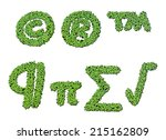 collection of alphabet letter... | Shutterstock . vector #215162809