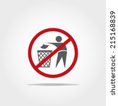No Littering Icon On White...