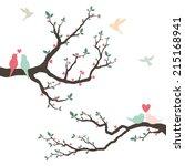 wedding invitation with love... | Shutterstock .eps vector #215168941