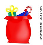 santa claus bag with christmas... | Shutterstock . vector #21517291