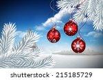 digital hanging christmas... | Shutterstock . vector #215185729