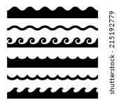 seamless wave pattern set.... | Shutterstock .eps vector #215192779