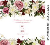 greeting card with... | Shutterstock . vector #215201221