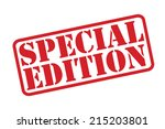 special edition rubber stamp... | Shutterstock .eps vector #215203801