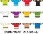 ice hockey jerseys set of 12... | Shutterstock .eps vector #215206837