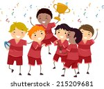 illustration featuring a group... | Shutterstock .eps vector #215209681