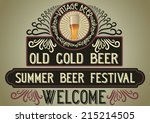 beer restaurant welcome sign... | Shutterstock .eps vector #215214505