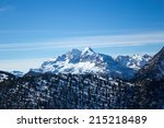 a view of the tofane mountains  ... | Shutterstock . vector #215218489