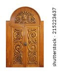 Carved Door Isolated On A White ...