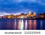 luxury hotels on the beach in... | Shutterstock . vector #215225545
