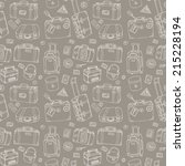 background of vintage suitcases....   Shutterstock .eps vector #215228194