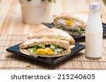 egg sandwiches | Shutterstock . vector #215240605