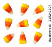 Halloween Candy Corns Isolated...