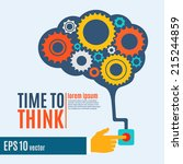 time to think  creative brain... | Shutterstock .eps vector #215244859