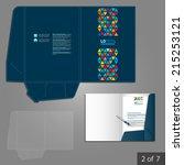 blue creative folder template... | Shutterstock .eps vector #215253121