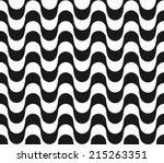 copacabana waves seamless... | Shutterstock .eps vector #215263351