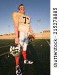 american football player... | Shutterstock . vector #215278885