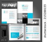 white classic vector brochure... | Shutterstock .eps vector #215288155