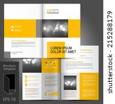 white classic vector brochure... | Shutterstock .eps vector #215288179