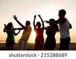 friendship  summer vacation ... | Shutterstock . vector #215288689