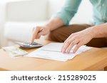 savings  finances  economy and... | Shutterstock . vector #215289025