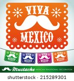 viva mexico   mexican mustache... | Shutterstock .eps vector #215289301