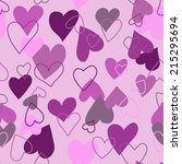 seamless hearts  rasterized | Shutterstock . vector #215295694