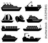ships  boats  cargo  logistics  ... | Shutterstock .eps vector #215295841