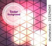 triangle night vector... | Shutterstock .eps vector #215296045