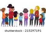 back view illustration...   Shutterstock .eps vector #215297191