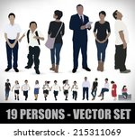 set of nineteen realistic...   Shutterstock .eps vector #215311069