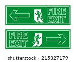 fire exit sign | Shutterstock .eps vector #215327179