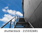 metal fire escape or emergency... | Shutterstock . vector #215332681