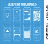 blueprint wireframe mobile app... | Shutterstock .eps vector #215335681