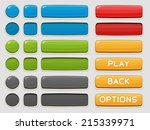 interface buttons set for games ... | Shutterstock .eps vector #215339971