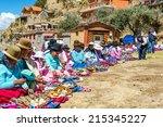 island of the sun  bolivia  ... | Shutterstock . vector #215345227