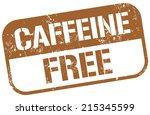 caffeine free stamp   Shutterstock .eps vector #215345599