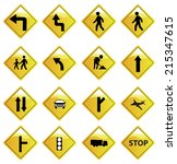 road signs | Shutterstock .eps vector #215347615