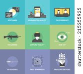 flat icons set of augmented...   Shutterstock .eps vector #215355925