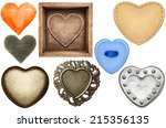 Various Heart Shapes Isolated...