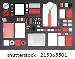 mockup business template | Shutterstock . vector #215365501
