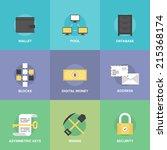 bitcoin digital money ... | Shutterstock .eps vector #215368174