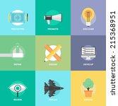flat design icons set of...   Shutterstock .eps vector #215368951