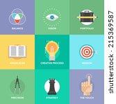 creative design process concept ... | Shutterstock .eps vector #215369587