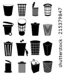 recycle bin icons | Shutterstock .eps vector #215379847