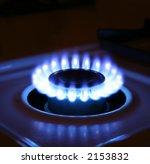 bluish flames of a stove burner ... | Shutterstock . vector #2153832