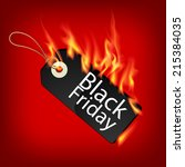 fiery black friday sale design... | Shutterstock .eps vector #215384035