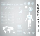 medical infographic elements  | Shutterstock .eps vector #215384089