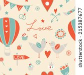 vintage seamless pattern.... | Shutterstock .eps vector #215387677